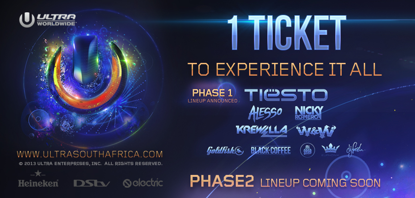 Ultra Worldwide: Ultra Music Festival South Africa Tickets on Sale